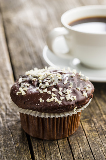 Tasty chocolate muffins.