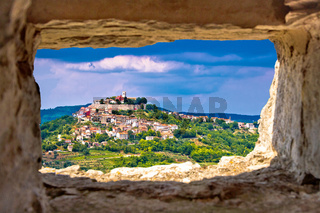 Town of Motovun on pictoresque hill of Istria
