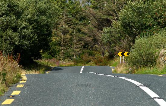 Strasse in Connemara - Road in Connemara