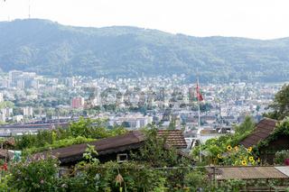 Die Stadt Zürich in der Schweiz