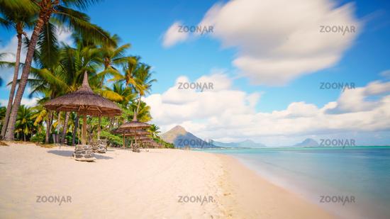 typical tropical beach  Mauritius