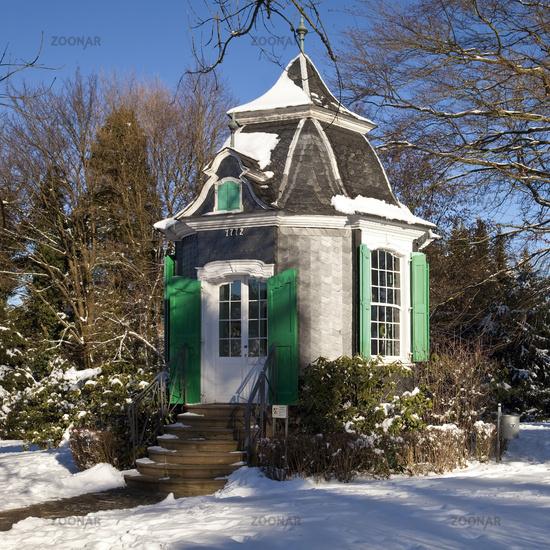 historical Rokoko house in the municipal park, Radevormwald, North Rhine-Westphalia, Germany, Europe