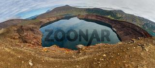 Lake in Caldera volcano Ksudach. South Kamchatka Nature Park.