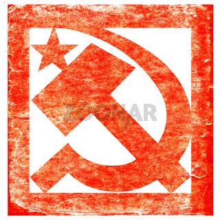 grunge soviet symbol