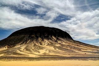 Mountain landscape in Black Desert, Bahariya Egypt