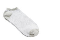 pair of fashionable striped short socks isolated on white