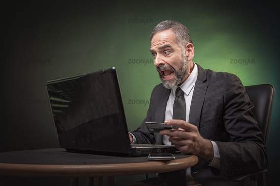 Unbelievable credit card balance, senior man is in shock