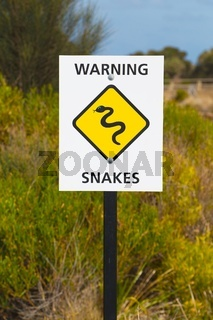 Snake warning sign