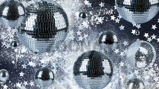 Abstract background of night club disco balls