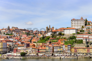 View of Porto Ribeira and Douro river in Porto, Portugal