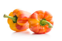 Double color bell peppers.