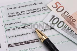 Einkommensteuererklärung für Finanzamt