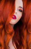 Readhead woman beauty portrait