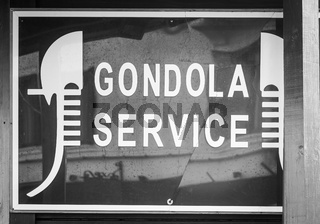 Gondola Service Sign