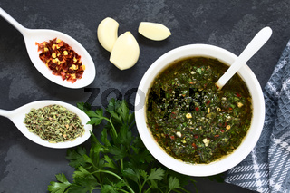 Green Chimichurri Salsa or Sauce