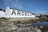 Warehouse of the whiskey distillery Ardbeg, Isle of Islay