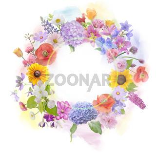 arrangement of colorful flowers