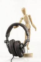 wood man Abstract Listen by Headphones