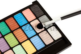 make-up eyeshadows isolated on white
