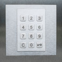 keypad, numbers and key smbol - door security system