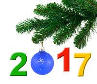 Christmas tree and 2017