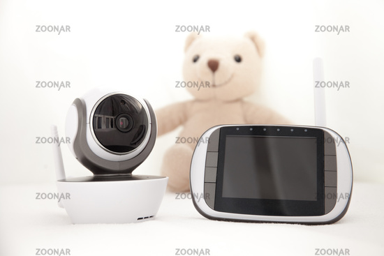 closeup baby monitor for security of the baby