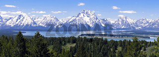 Panorama of Jackson Lake