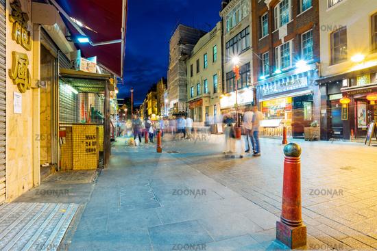 Gerrard street at night