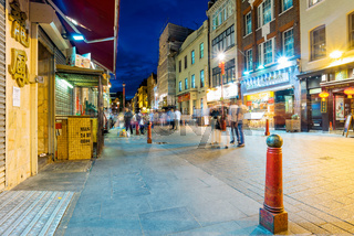 Gerrard street at night