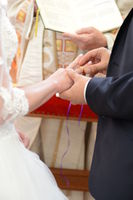 Ringexchange of a couple in the church