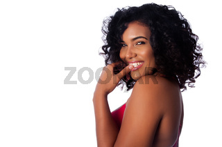 Face of beautiful smiling woman