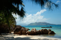 Seychelles islands Curieuse and Praslin