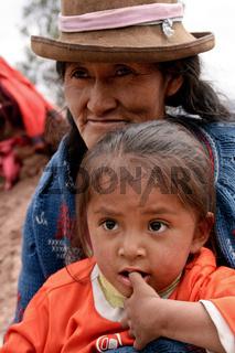 Mutter und Tochter - Südamerika