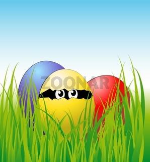 Eier im Gras