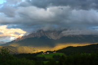 Thunderstorm in the alps