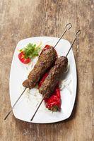 Kebap Spieße mit gegrilltem Paprika