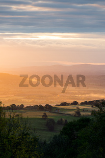 Golden hour from Broadway Tower.