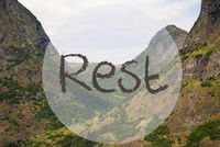 Valley And Mountain, Norway, Text Rest