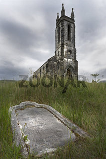 Verfallene Kirche, Dunlewy, County Donegal, Irland, Europa