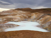 volcanic mineral pool at Leirhnjukur, Krafla volcano, Myvatn, Iceland
