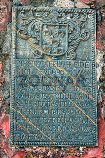 Relief on stone, part of the ruins of the church of St Augustine, Old Goa, India