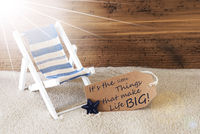 Summer Sunny Label And Quote Little Things Big Life