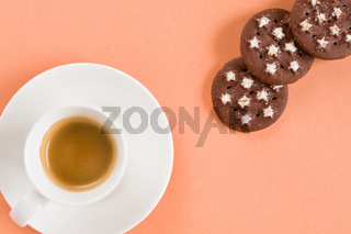 Italian coffee and biscuits