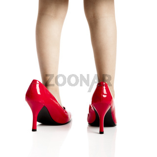 Playing with the red shoes