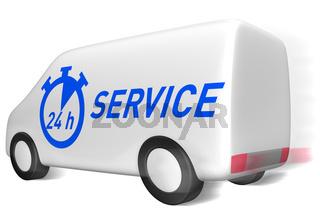 24 h Service Lieferwagen