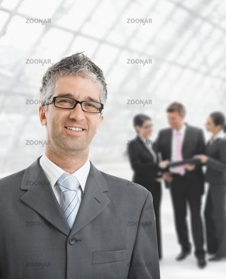Hapy businessman