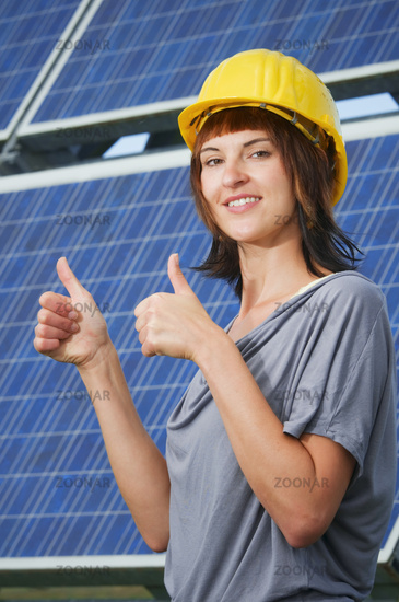 young photovoltaics engineer
