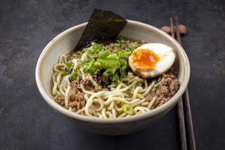 Ramen Mince Soup in Bowl