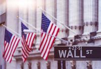 Wall Street American Flags