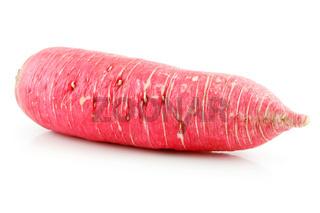Ripe Red Radish Isolated on White